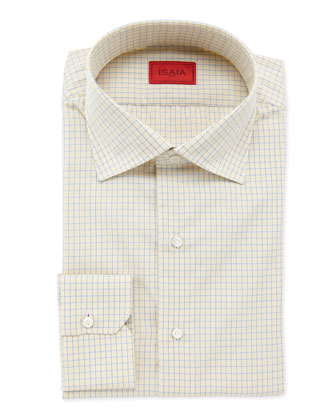 Graph Check Dress Shirt, Yellow/Navy