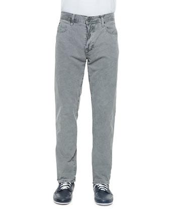 Five-Pocket Pants, Dark Gray