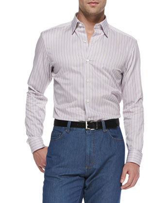 Bar-Stripe Casual Shirt