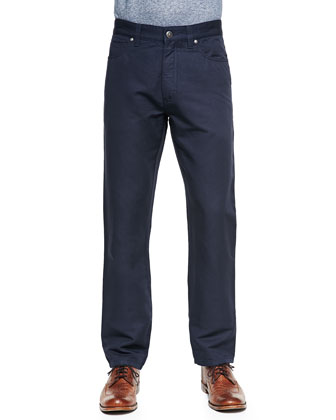 5-Pocket Pants, Navy
