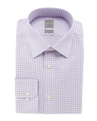 Box Check Dress Shirt, Lavender