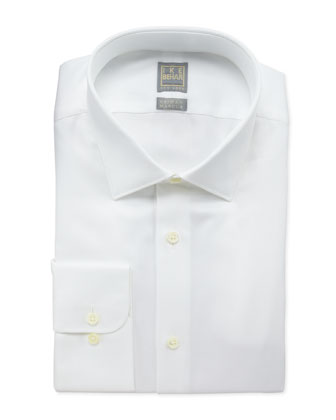 Diagonal Twill Dress Shirt, White