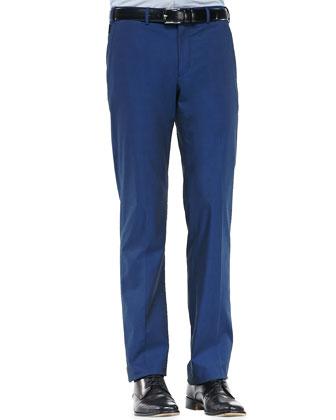 Gabardine Dressy Sport Pants, Navy