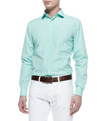 Solid Dress Shirt, Light Green