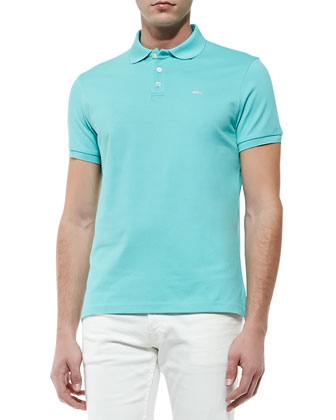 RL Mesh Polo, Pale Green
