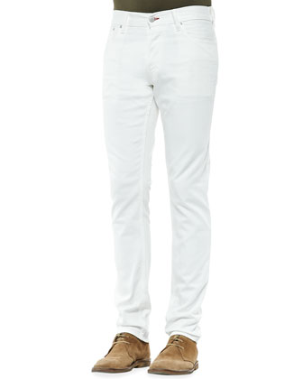 Slim-Fit 5-Pocket Jeans, White