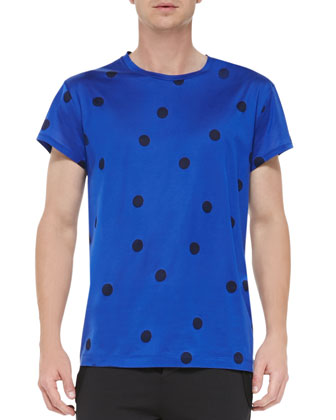Short-Sleeve Polka Dot T-Shirt & Fred Main Sweatpants