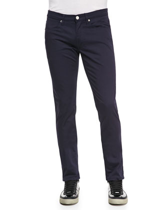 Max Satin-Twill Pants, Blue