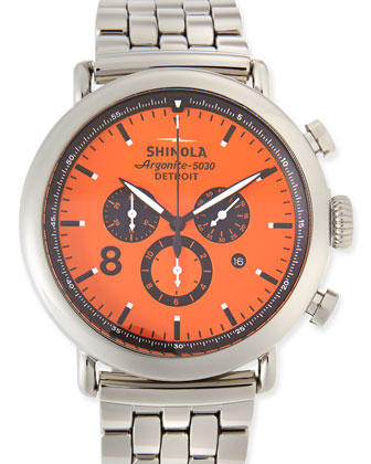 47mm Runwell Contrast Chronograph Watch, Orange