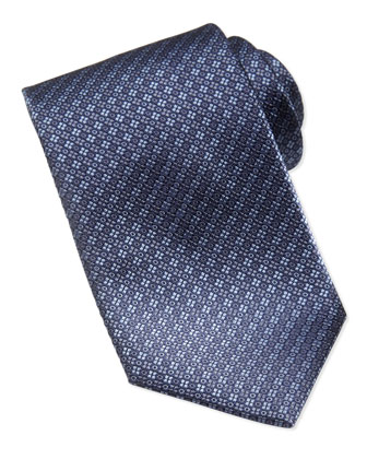 Textured Circle Tie, Blue