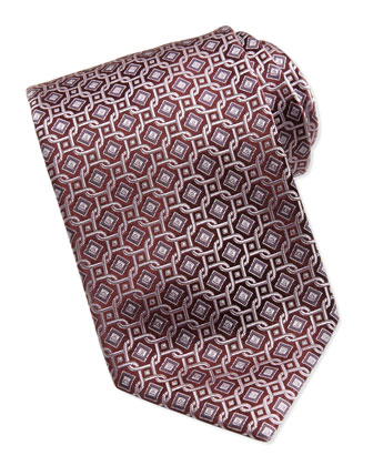 Diamond Circle Tie, Pink