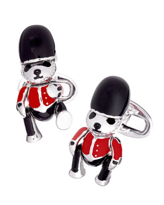 British Soldier Bear Cuff Links