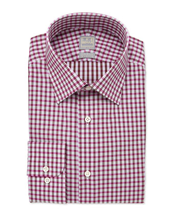 Box-Check Dress Shirt, Brown