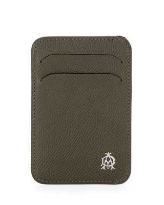 Bourdon Leather Card Case, Green