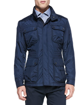 Lightweight Nylon Field Jacket, Navy