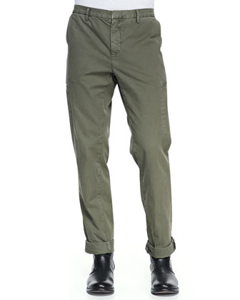 Welt-Cargo Pocket Twill Pants