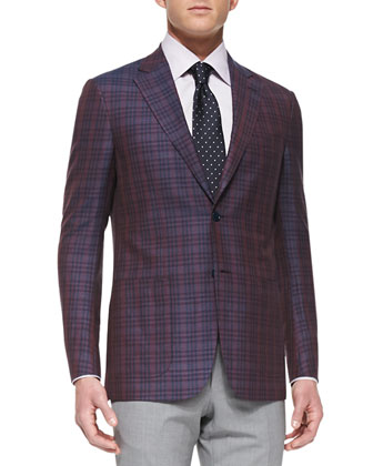 Plaid Two-Button Jacket, Graph-Check Dress Shirt, High Performance Wool ...