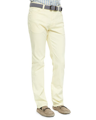 Five-Pocket Pants, Canary Yellow
