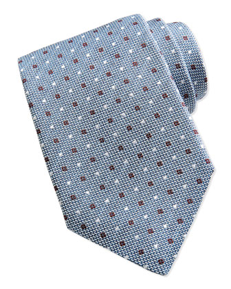 Textured Dot Neat Tie, Light Blue