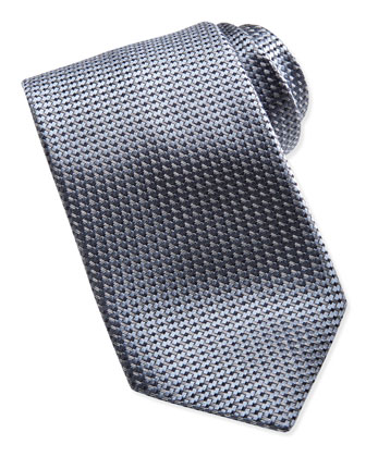 Textured Solid Tie, Gray