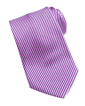 Printed Micro-Neat Silk Tie, Purple