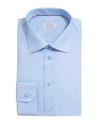 Textured Rope Dress Shirt, Light Blue