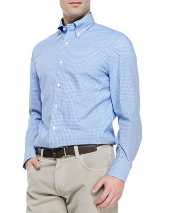 Camicie Check Sport Shirt, Blue