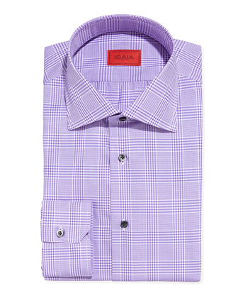 Glen Plaid Dress Shirt, Purple