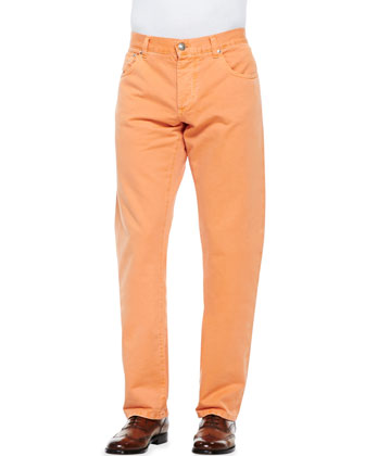 Denim Selvedge Jeans, Orange