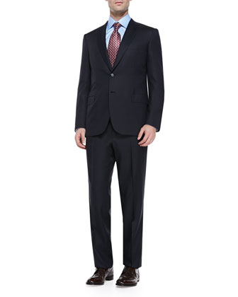Herringbone Suit, Navy