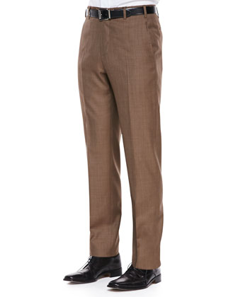 Sharkskin Dress Pants, Sable