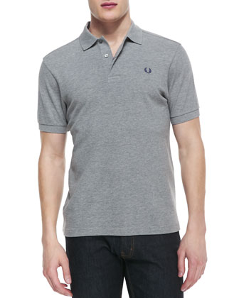 Short-Sleeve Polo Shirt, Gray