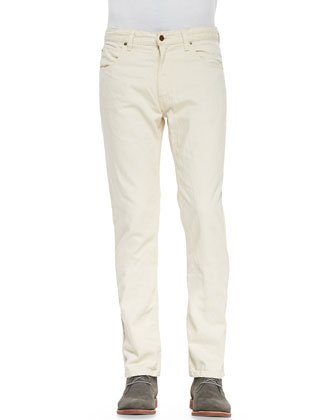 Ashland Five-Pocket Jeans, Ivory/Bone