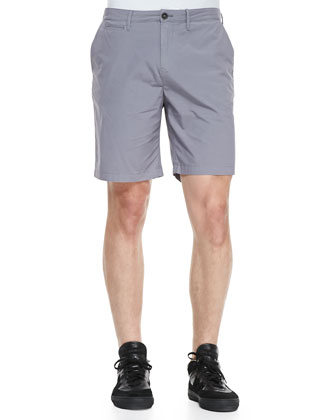 Lightweight Cotton Shorts, Pale Gray