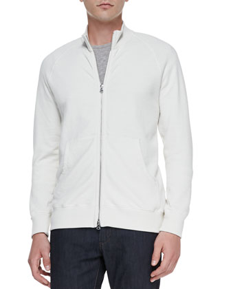 Veton Zip-Front Jacket, Cream