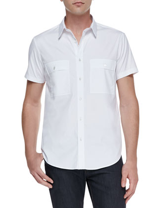 Milhouse Exclusive Short-Sleeve Shirt, White