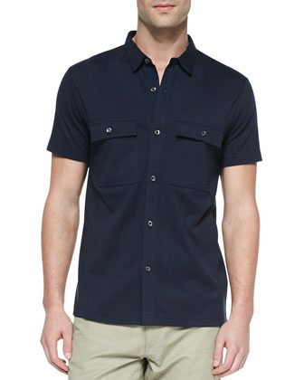 Janos Double-Pocket Short-Sleeve Shirt