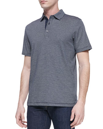 Striped Short-Sleeve Polo