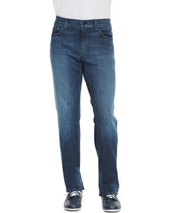 5011 Drifter Blue Denim Jeans, Dark Blue