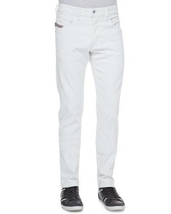 Belthar Straight-Leg Jeans, White