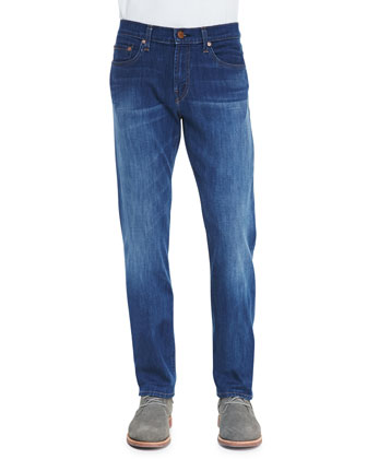 Kane Scale Faded-Leg Indigo Jeans