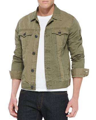 Jimmy Military Jacket, Olive