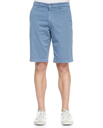 Oceanic Flat-Front Shorts, Blue