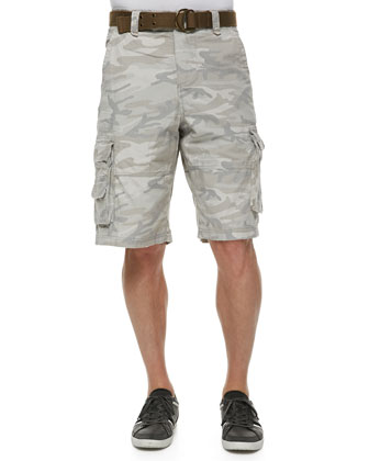 Camo-Print Cargo Shorts