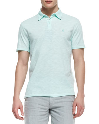 Soft-Collar Peace Polo, Light Green