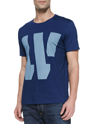 Alphabet Jersey Tee, Dark Blue