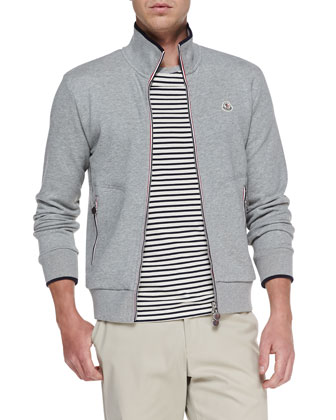 Maglia Web-Detail Track Jacket, Heather Gray