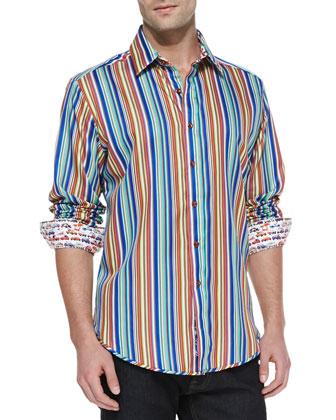 Cinzano Vertical Multi-Stripe Shirt