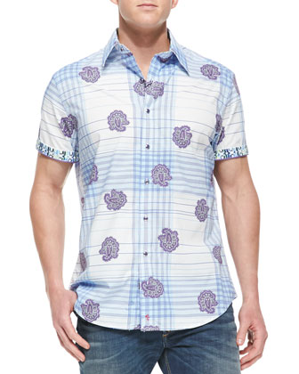 Tynell Plaid Short-Sleeve Shirt