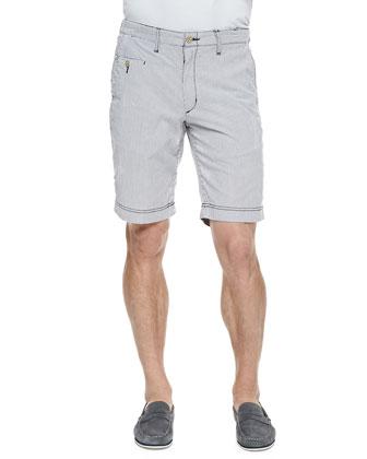 Catarro Striped Shorts, Black